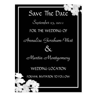 Floating White Petals Save The Date Wedding Postca Postcard