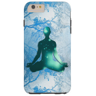Floating Yogi in the Trees (blue) Tough iPhone 6 Plus Case