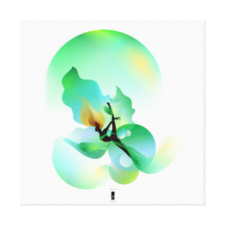 floaty green leaf by fad.institute canvas print