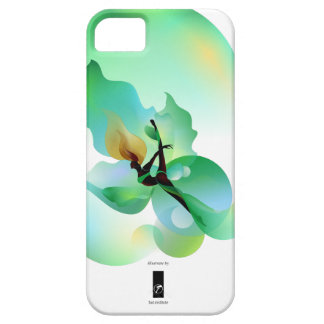 floaty green leaf iPhone 5 cover