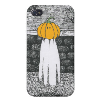 Floaty Pumpkin Head Ghost Covers For iPhone 4