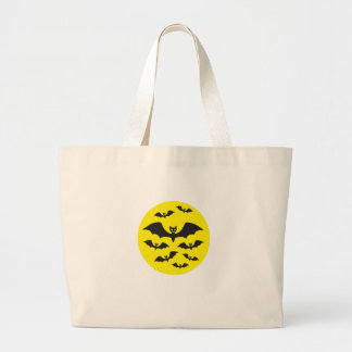 Flock of Bats against a Full Moon Tote Bags