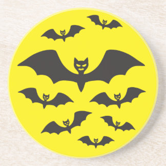 Flock of bats against the Moon. Drink Coaster