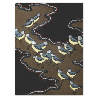 Flock of Blue Jays Tissue Paper