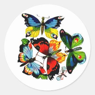Flock Of Butterflies Round Sticker