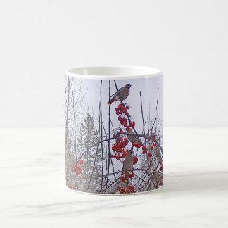Flock of Cedar Waxwings Mug