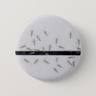Flock of mosquitoes that enter the room 6 cm round badge