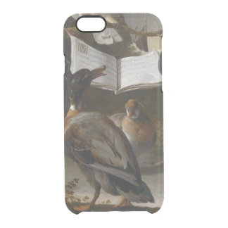 Flock of musical birds painting clear iPhone 6/6S case