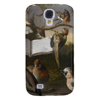 Flock of musical birds painting galaxy s4 case