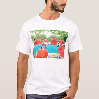 Flock of Pink Flamingos T-Shirt