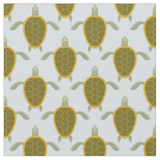 Flock Of Sea Turtles Pattern Fabric