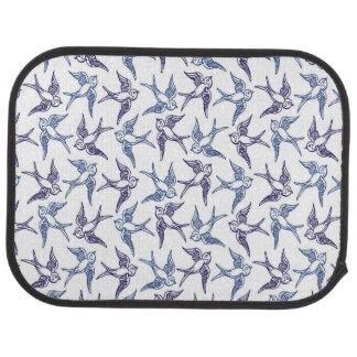 Flock of Sketched Birds Car Mat