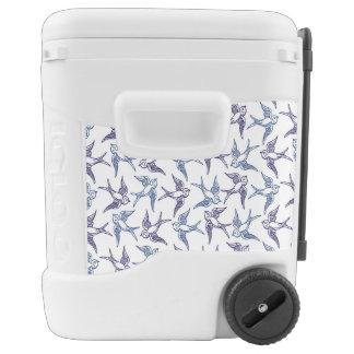 Flock of Sketched Birds Cooler