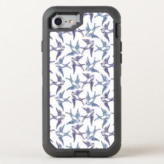 Flock of Sketched Birds OtterBox Defender iPhone 8/7 Case