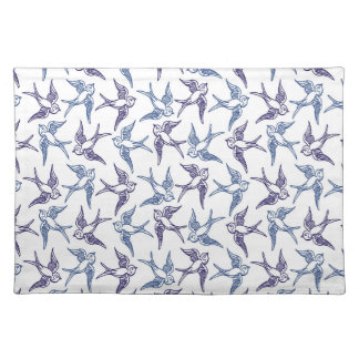 Flock of Sketched Birds Placemat