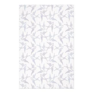 Flock of Sketched Birds Stationery