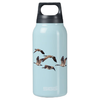 Flock of wild geese insulated water bottle