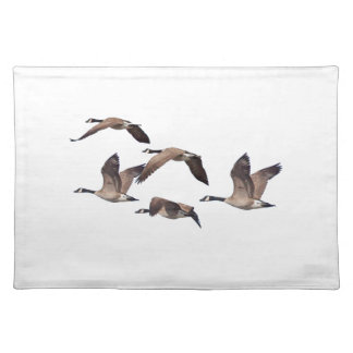 Flock of wild geese placemat