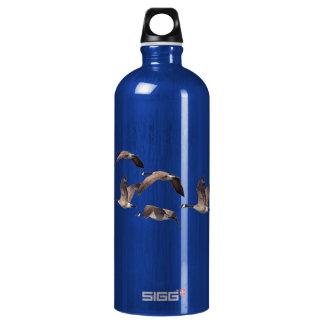Flock of wild geese water bottle
