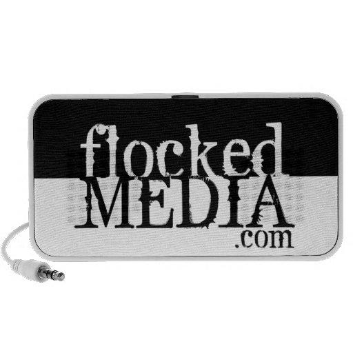 FLOCKED MEDIA LOGO SPEAKER