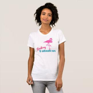 Flocking Fabulous Pink Flamingo Graphic Typography T-Shirt