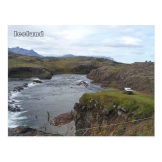 Flókadalsá river, near Borgarnes, Iceland Postcard