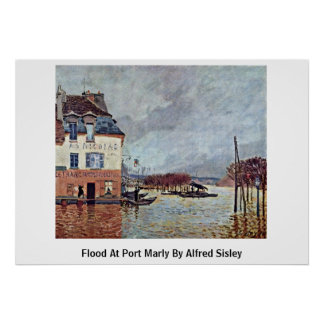 Flood At Port Marly By Alfred Sisley Print