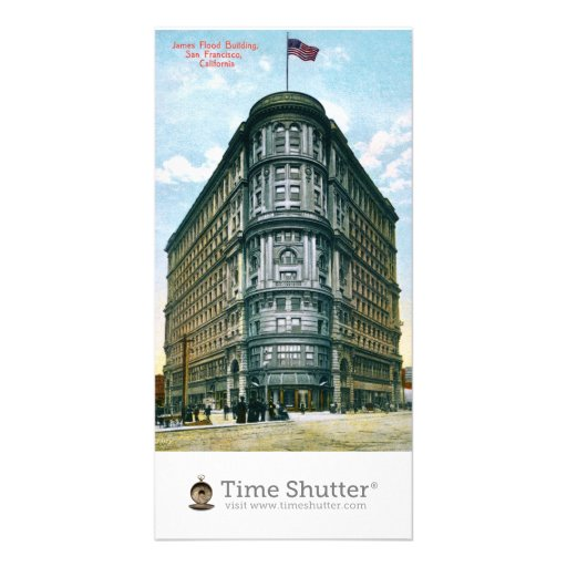 Flood Building Photo Card Template