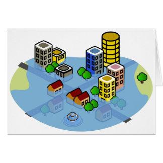 Flooded City Card