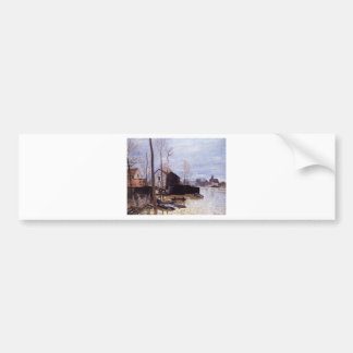 Flooding at Moret by Alfred Sisley Bumper Sticker
