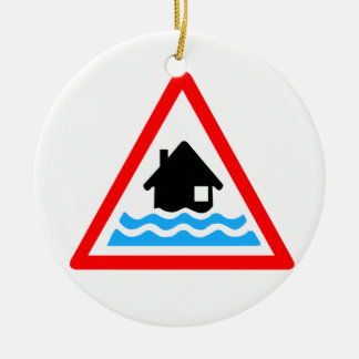 Flooding Warning Ceramic Ornament