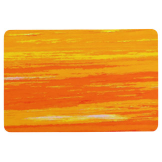 Floor - Door Mat - Streaky Orange / White