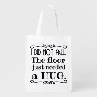 Floor Hug Funny Reusable Grocery Bag