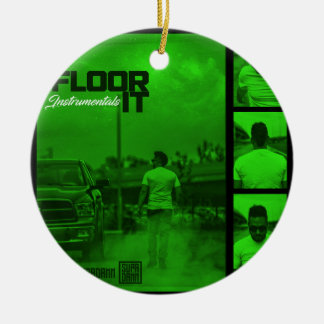 Floor It Instrumentals Cover Ceramic Ornament