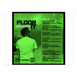 Floor It Instrumentals Reverse Postcard