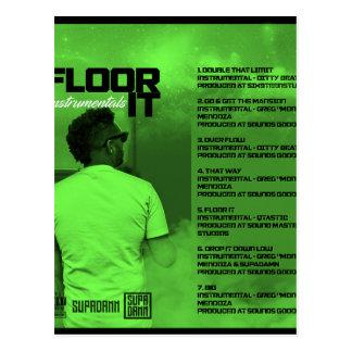 Floor It Instrumentals Reverse Postcard