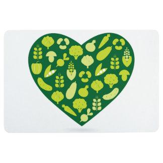 Floor mat Green heart edition