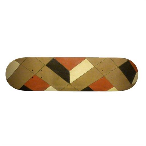 Floor Optical Illusion pattern tiles Las Vegas pho Skate Boards