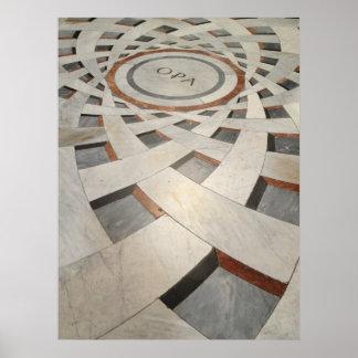 Floor Pattern in Church Poster