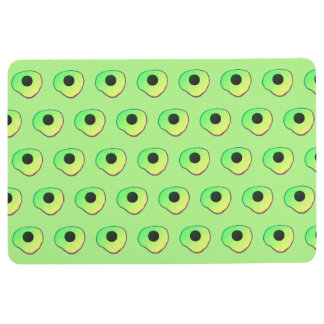 Floor rug/mat green yellow custom floor mat