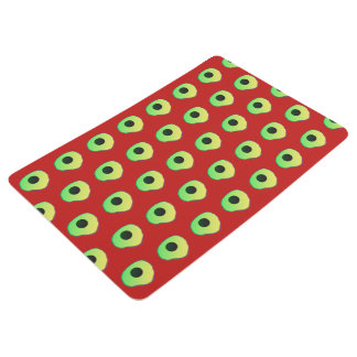 Floor rug/mat red yellow custom floor mat