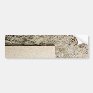 Floor tile and concrete bumper sticker