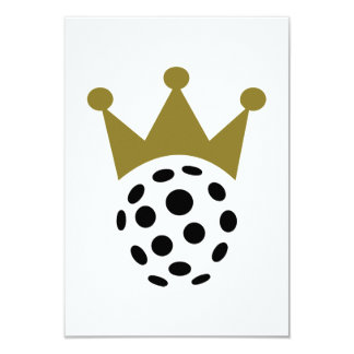Floorball champion crown personalized invite