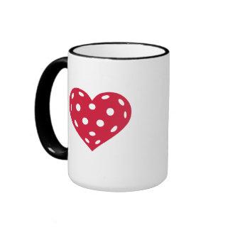 Floorball red heart mugs