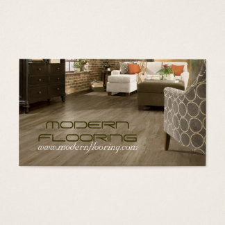 Flooring, Floors Construction Mill Work, Wood Business Card