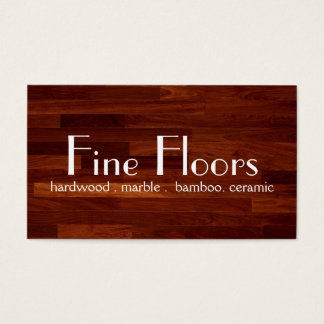 Flooring Installation Hardwood Marble Construction Business Card