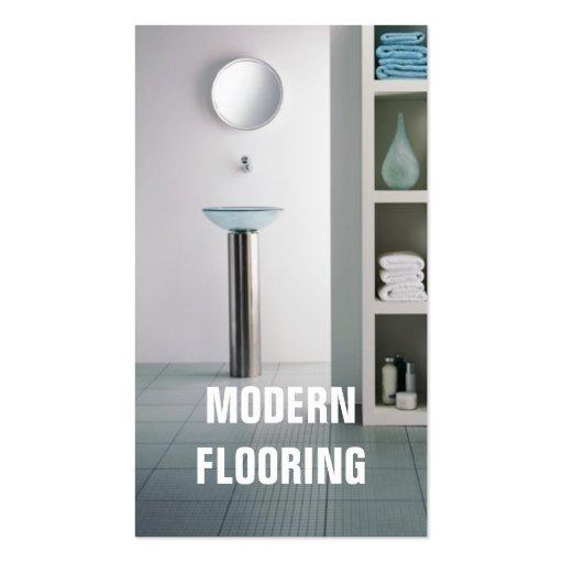 Flooring tile hardwood carpet floors construction business card
