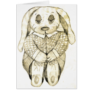 Flop Eared Bunny Greeting Card