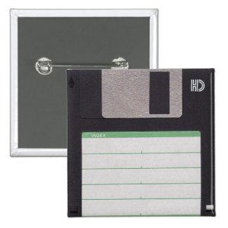 floppy disk 15 cm square badge