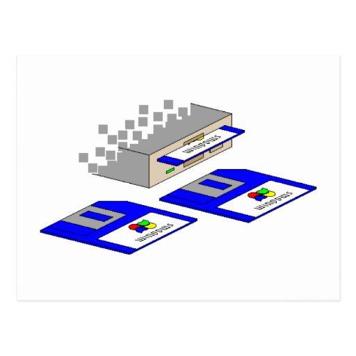 Floppy Disks Post Cards